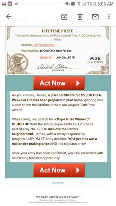 Instant Win Sweepstakes, Win For Life, Publisher Clearing House, Lucky Penny, Become A Millionaire, July 6th, Acting, How To Become