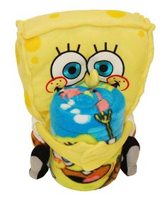 Take a look at this SpongeBob Plush Toy & Throw on zulily today!