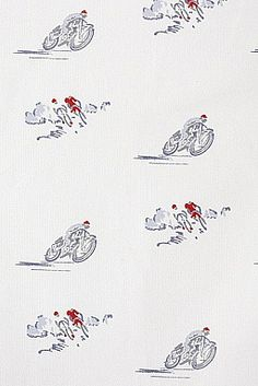 Bikes Fabric - Emily Bond - team it with grey/blue walls