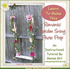 PDF Pattern Instructions Victorian Garden Swing Photo Prop, Shabby Room Decor Idea tutorial. <3