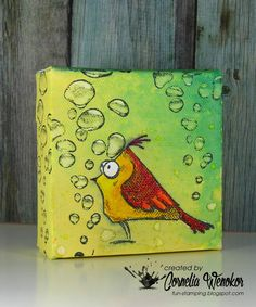 Stempel Spass: using Designs by Ryn: Rising Bubbles (stamp)