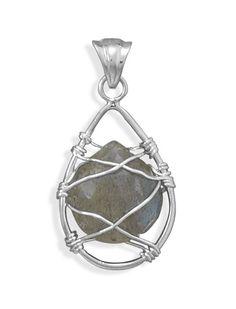 Wire Wrap Labradorite Pendant