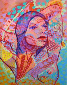"""Artist: Xerado - Title: Art is a Jealous Mistress - Media: Acrylic on canvas - Size: 16"""" w x 20"""" h - 40.6 cm x 50.8 cm"""