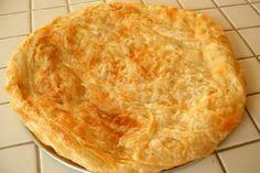 "Egyptian Feteer meshaltet (فطير مشلتت, ""cushion-like pie"") - sometimes savory, sometimes served with cream and honey."