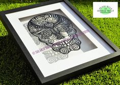 Hey, I found this really awesome Etsy listing at https://www.etsy.com/uk/listing/264268881/sugar-skull-framed-papercut-hand-cut