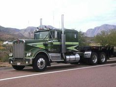 """Beautiful Kenworth from the show """"Movin' On"""" Big Rig Trucks, New Trucks, Custom Trucks, Cool Trucks, Kenworth Trucks, Peterbilt, Train Truck, Custom Big Rigs, Truck Wheels"""