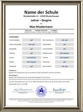 Lehrer/in-Zeugnis | Urkunden-Shop24 - #LehrerinZeugnis #UrkundenShop24 Web Formulare, School Report Card, School Leaving Certificate, Sheet Music, School, Cash Gifts, Funny Stuff