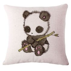 - Features: - Panda Throw Pillow /Pillow Cases. Soft material, Well-chosen PP cotton filling, give great rebound comfort. Beautiful Pillowcase, Love at the first sight. - Perfect for decorating your r