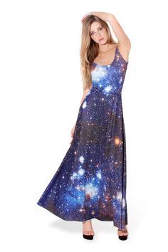 Galaxy Blue Maxi Dress › Black Milk Clothing