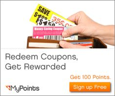 I have been a member of mypoints for over 10 years. I print off coupons, use them to save money, THEN get points for it! I turn those points into gift cards. If you sign up under me, I get more points and you get a great offer.