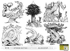 6 EVIL Tree concepts by STUDIOBLINKTWICE.deviantart.com on @deviantART