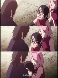 Sasuke Uchiha, Anime Naruto, Sasuke Sakura Sarada, Naruto And Hinata, Naruto Shippuden, Himawari 8, Anime Friendship, Otaku, Boruto Naruto Next Generations