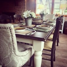 Farmhouse Table Dining Area Rooms Cozy Room Sets