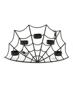 Look at this Spider Web Tea Light Holder on #zulily today!