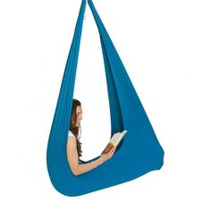 Buy your child a light blue therapy swing. At InYard, you will find wonderful Jumbo swings for special needs children. Our indoor sensory swings provide calming effect for kids with SPD, Asperger, and Autism and they can handle up to 165 lbs.