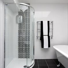 Chic monochrome | Shower rooms | Bathrooms | PHOTO GALLERY | Ideal Home | Housetohome.co.uk