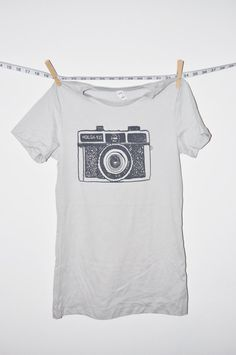 camera tshirt holga grey tshirt womens by littleleestudios, $20.00 (in the mail ;))