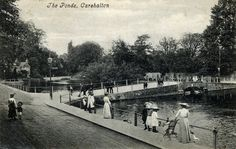 The Ponds in Carshalton Surrey England in 1905 London History, Local History, Family History, Old London, West London, Old Pictures, Old Photos, Sutton England, Sutton Surrey