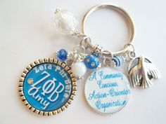 Personalized Sorority of choice keychain with greek letters and sorority motto Zeta Phi Beta Chi Delta epsilon Gamma Kappa Omega Sigma theta on Etsy, $16.50