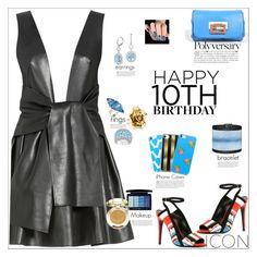 """Happy 10th Birthday Polyvore!"" by atelier-briella ❤ liked on Polyvore featuring Lana Mueller, Pierre Hardy, Fendi, Blue Nile, Cynthia Desser, Ice, Otazu, Oscar de la Renta, Christian Dior and Milani"