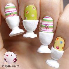 Easter eggs nail art for breakfast!