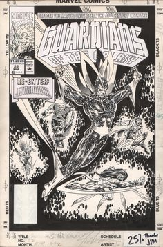 the cover to Guardians of the Galaxy #22 by Jim Valentino and Al Milgrom