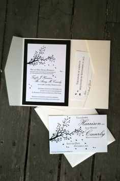 More autumn wedding invitation packages