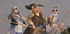 """""""The Blind Leading the Blind"""" - art by James Christensen, via Ashley's Art Gallery"""