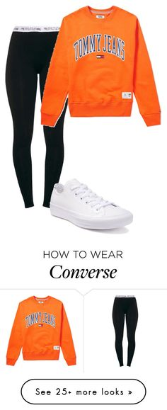 """Untitled"" by btsarmyjungkook on Polyvore featuring Tommy Hilfiger and Converse"
