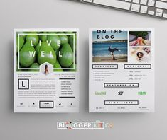 Blog Media Kit Template | Two Pages by Blogger Kit Co. on @creativemarket