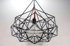 Himmeli light pendant by pensalinos (string & straws)