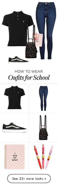 """""""School"""" by polyvore393 on Polyvore featuring Polo Ralph Lauren, Topshop, ban.do, Givenchy, Vera Bradley and Vans"""
