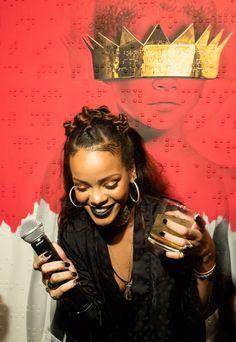 "thebadgalrih: "" "" Rihanna at Rihanna's 8th album artwork reveal for ""ANTI"" at MAMA Gallery in LA "" """