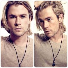 Chris Hemsworth, long hair works for Thor
