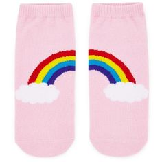 Forever21 Rainbow Graphic Ankle Socks (49 CZK) ❤ liked on Polyvore featuring intimates, hosiery, socks, short socks, tennis socks, forever 21 socks, forever 21 and graphic socks