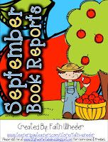 1st Grade Fantabulous: Freebies - Great site for early book reports