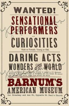 Want to wow them at your Greatest Showman Theme Party? Have your very own CUSTOM Performers & Curiosities Wanted poster made! These are CUSTOM DESIGNED by Killerwebs Designs using the look/feel of the prop flyer from the movie, The Greatest Showman. Circus Birthday, Circus Theme, Circus Party, 28th Birthday, Birthday Board, Birthday Ideas, Birthday Parties, The Greatest Showman, Circus Poster
