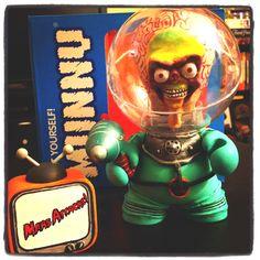 The Mars Attacks! Martian is done.   #kidrobot #munny #mars #attacks #martian #alien #cult #movie #film