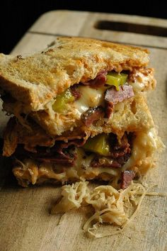 Sourdough Reuben Sandwich Recipe ~ The Adventure Bite  This sandwich is perfect for us rye haters. We've been missing out on an awesome sandwich folks!