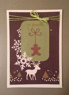 Carte de Noël avec un petit pain d'épice.