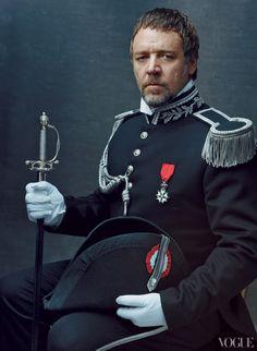 Les Mis (2012) | Russell Crowe (Javert) photographed by Annie Leibovitz for Vogue. Les Misérables