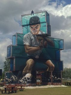 North West walls 2015 - Gamma Gallery, Container graffiti