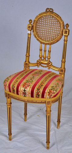 Antique French Ballroom Side Chair
