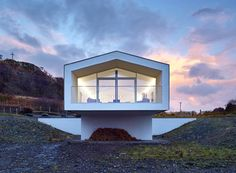 Cantilevered holiday home frames views of Scotland's Small Isles | Inhabitat - Sustainable Design Innovation, Eco Architecture, Green Building
