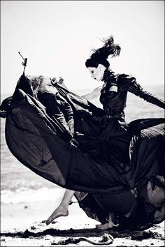 Stunning...Zhang Jingna Photographs a Sultry Denise in Badass Couture    Dark, badass and haute couture themes emanate from the mind of Zhang Jingna for a photo shoot entitled 'Before the Tide Comes.'