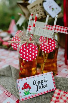 Apple Juice from a Little Red Riding Hood Woodland Birthday Party via Kara's Party Ideas KarasPartyIdeas.com (5)