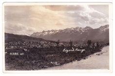 BC – FERNIE, Town View and Lizard Range, Haigh c.1920-1945 RPPC