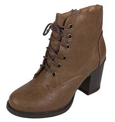 Lustacious Women's Lace Up Chunky Stacked Heel Ankle Bootie with Side Zipper, tan leatherette, 7 M US Soda http://www.amazon.com/dp/B015P11QLA/ref=cm_sw_r_pi_dp_2Tvbwb0BSJZC1