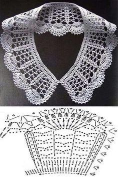 """Monica Veloso Castro added a new photo — with Maria Ale Torres."", ""Stitch crochet pattern for women"", ""It is a website for handmad Crochet Bolero, Crochet Collar Pattern, Col Crochet, Crochet Lace Collar, Crochet Diagram, Crochet Blouse, Crochet Chart, Thread Crochet, Crochet Scarves"