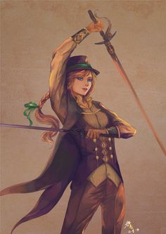 "Swordsman---ANNA by PHOEBELIN001.deviantart.com on @deviantART - From ""Frozen"". Obviously, this is an AU - but it looks like a very intriguing one."